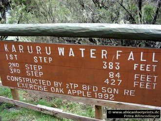Aberdares Safari: Karuru Waterfalls