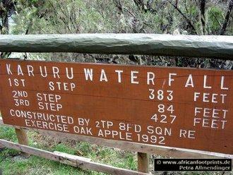 Aberdares Safari: Karuru Wasserfälle