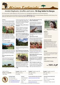 Safari package: 10-Day Safari in Kenya.