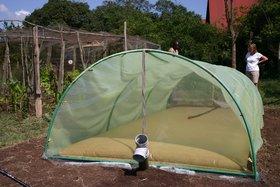 Die Biogasanlage auf Sandai