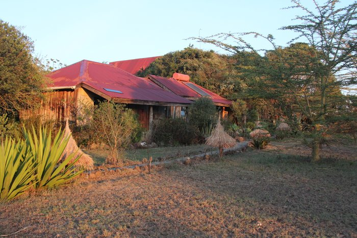 Gästehäuser im Morgengrauen