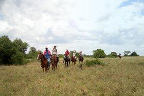 Horse back riding on Sandai